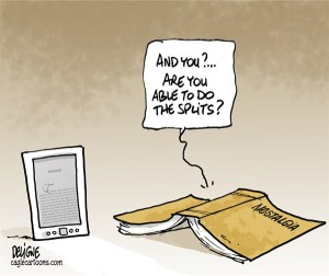 Book insults ereader